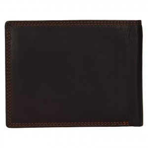 Pánska kožená peňaženka Lagen Norbert - tmavo hnedá