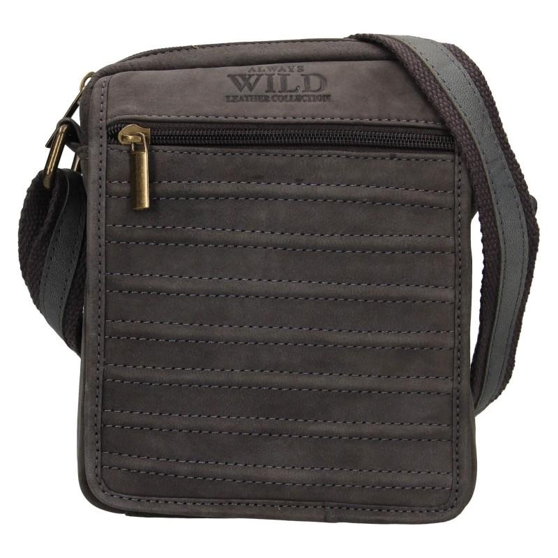 Pánská taška přes rameno Always Wild Robbe - čierno-šedá