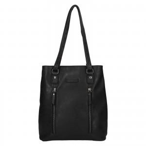 Elegantná dámska batôžky-kabelka Enrico Benetti Merta - čierna