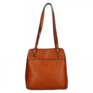 Dámska kožená batôžky kabelka Katana Emily - koňak