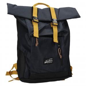 Veľký trendy batoh New Rebels Lindr - modro-žltá