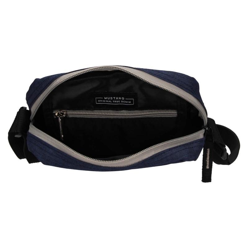 Pánska taška cez rameno Mustang Bobby - tmavo modrá