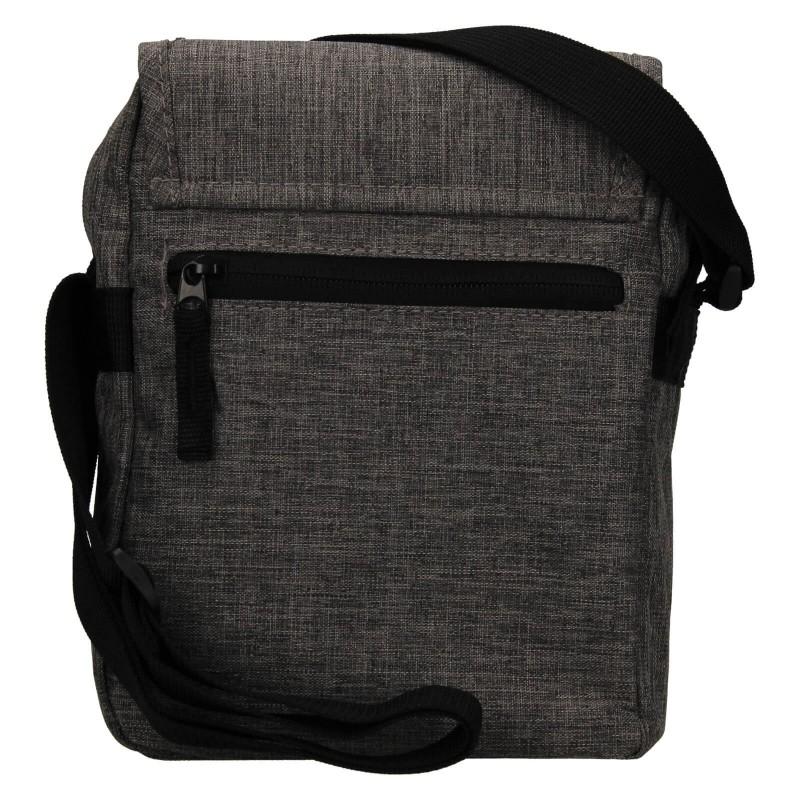 Pánska taška cez rameno Mustang Bobby - šedá