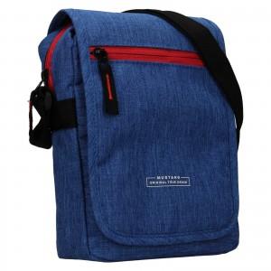 Pánska taška cez rameno Mustang Bobby - modrá