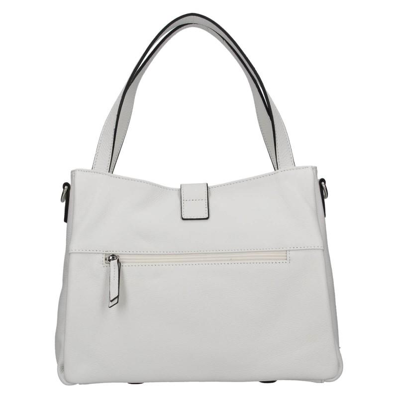 Elegantná dámska kožená kabelka Katana Cenia - biela