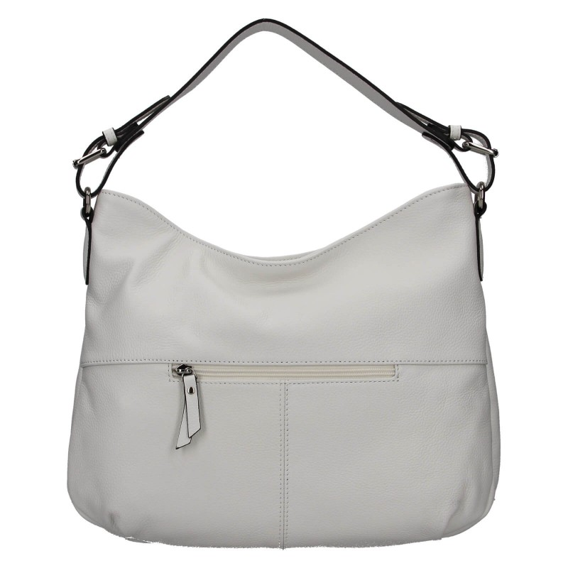 Elegantná dámska kožená kabelka Katana Mande - biela