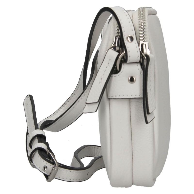 Kožená dámska crosbody kabelka Katana Francia - biela