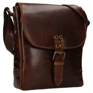 Pánska kožená taška cez rameno Ashwood Fion - hnědá