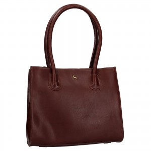 Dámska kožená kabelka Ashwood Tinna - vínová