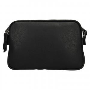 Kožená dámska crosbody kabelka Katana Francia - čierna