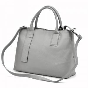 Dámska kožená kabelka Vera Pelle Evita - černá