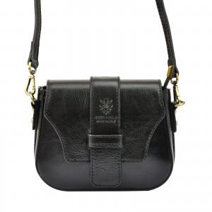 Dámska crosbody kabelka Vera Pelle Gyzell - čierna