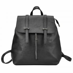Dámsky kožený batoh Vera Pelle Beathag - čierna