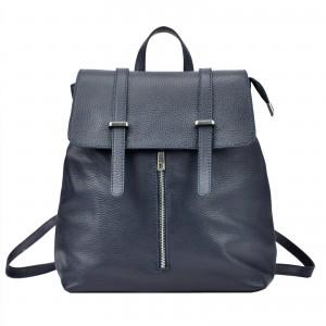 Dámsky kožený batoh Vera Pelle Beathag - tmavo modrá