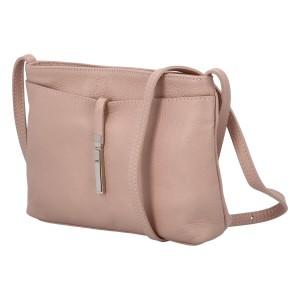 Dámska crossbody kožená kabelka Delami Serena - staroružová