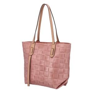 Dámska kožená kabelka Delami Elena - ružová