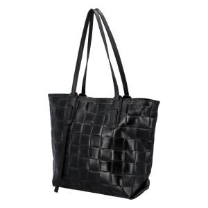 Dámska kožená kabelka Delami Elena - čierna