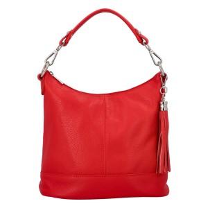 Dámska crossbody kožená kabelka Delami Sara - červená