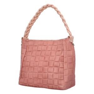 Dámska kožená kabelka Delami Chiara - ružová