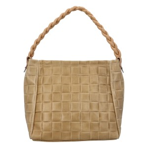 Dámska kožená kabelka Delami Chiara - béžová