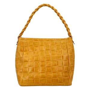 Dámska kožená kabelka Delami Chiara - žltá