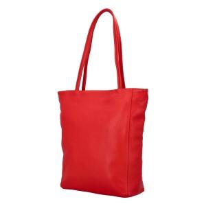 Dámska kožená kabelka Delami Giulia - červená