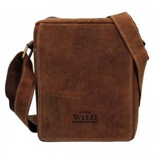 Pánska taška cez rameno Always Wild James - svetlo hnedá