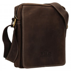 Pánska taška cez rameno Always Wild James - tmavo hnedá