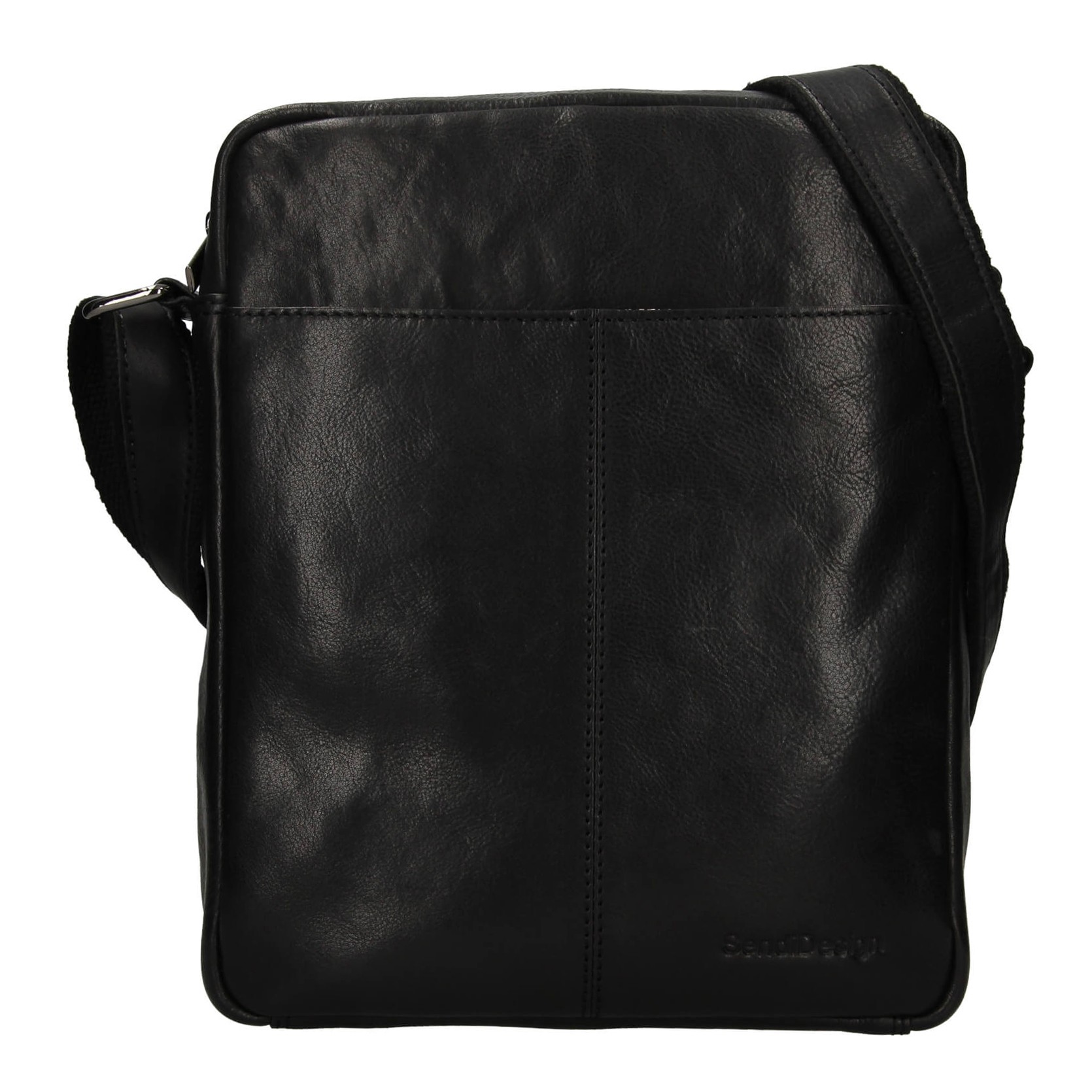 Pánská kožená taška přes rameno SendiDesign Felix - černá