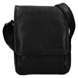Pánska kožená taška cez rameno SendiDesign Pauls - čierna