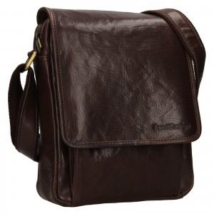 Pánska kožená taška cez rameno SendiDesign Pauls - hnedá