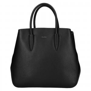 Dámska kožená kabelka Rovicky Veronika - čierna