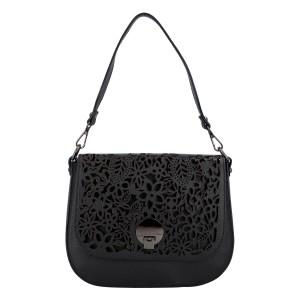 Dámska crossbody kožená kabelka Delami Vanessa - čierna