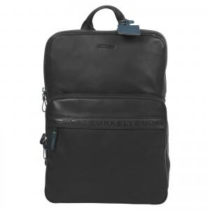 Business kožený batoh Burkely Arent - černá