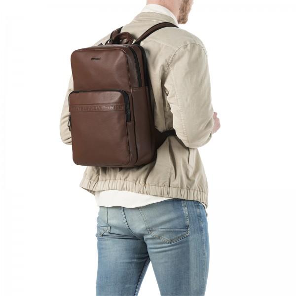 Business kožený batoh Burkely Arent - koňak