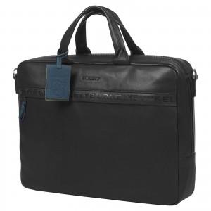 Pánska kožená taška na notebook Burkely Move - čierna