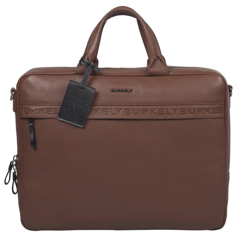 Pánska kožená taška na notebook Burkely Move - koňak