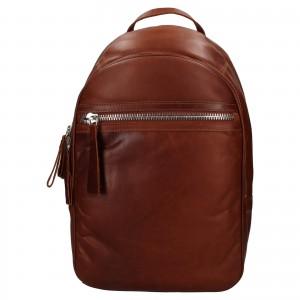 Pánsky kožený batoh Ashwood Jacob - koňak