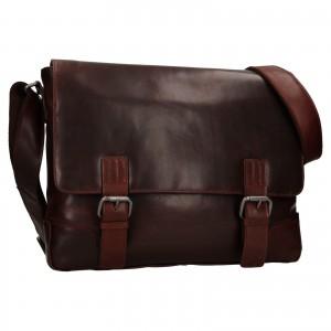 Pánska kožená taška cez rameno Ashwood Jack - koňak