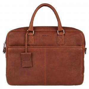 Pánska kožená taška na notebook Burkely Sammy - koňak