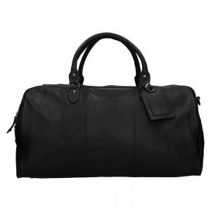 Pánska kožená cestovná taška Mustang Vojta - čierna