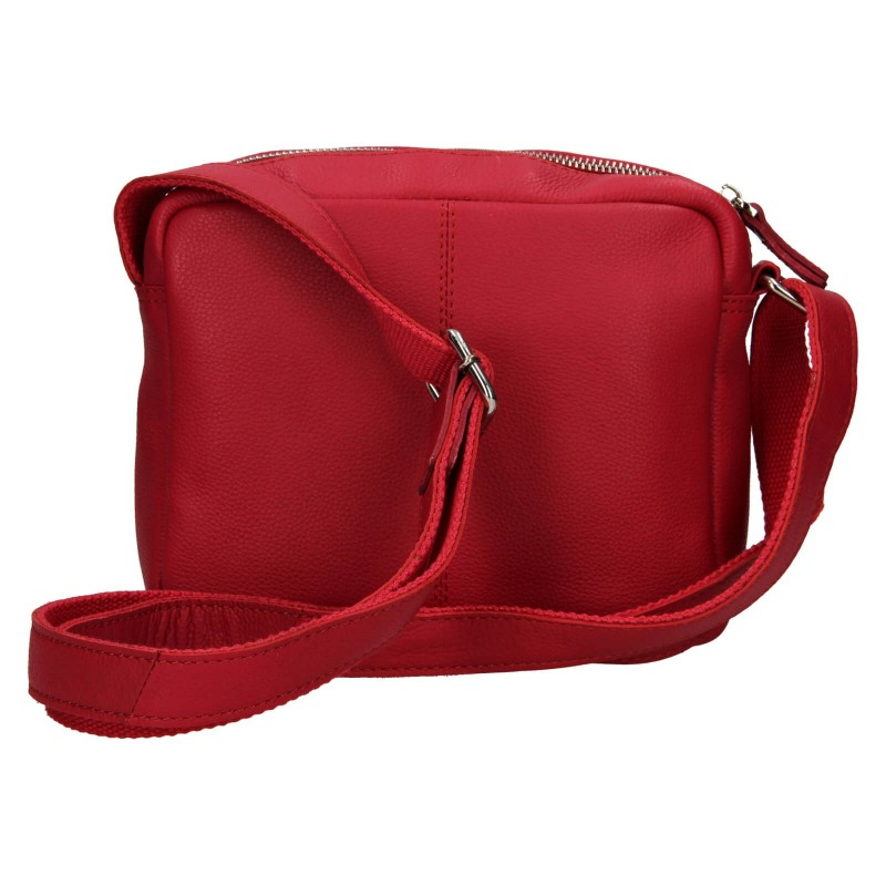 Dámska kožená crosbody kabelka Lagen Jana - červená