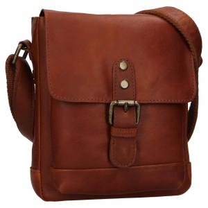 Pánska kožená taška cez rameno Ashwood Tom - koňak