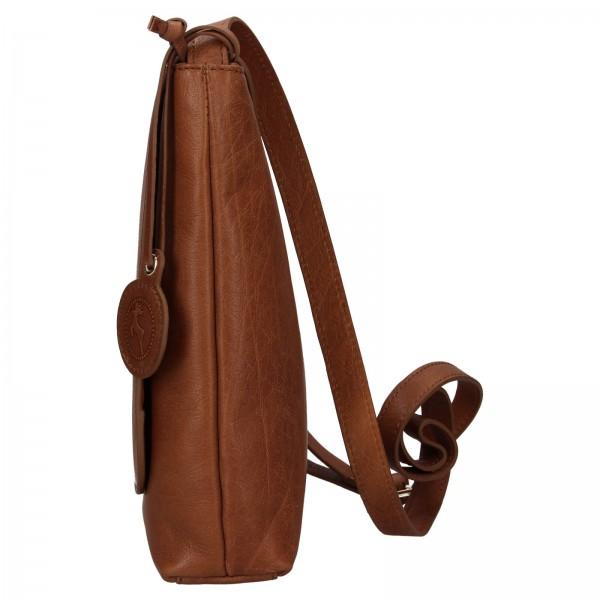 Dámska kožená crossbody kabelka Ashwood Tara - svetlo hnedá