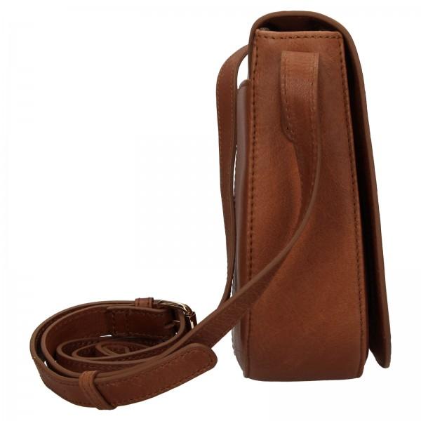 Dámska kožená crossbody kabelka Ashwood Gita - svetlo hnedá