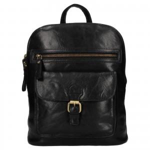 Elegantný dámsky kožený batoh Ashwood Ninna - čierna