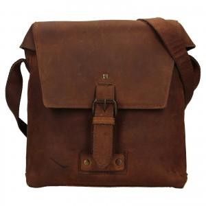 Pánska kožená taška cez rameno Ashwood Sam - svetlo hnedá