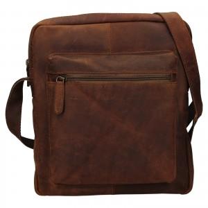 Pánska kožená taška cez rameno Ashwood Ryan - svetlo hnedá