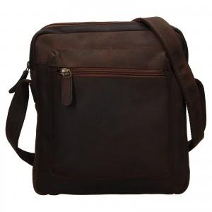 Pánska kožená taška cez rameno Ashwood Patrick - tmavo hnedá