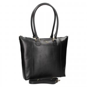 Dámska kožená kabelka Ashwood Ellie - čierna